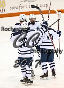 February 23, 2017; Rochester, NY; USA; Section V Class A semifinal hockey game between the Victor Blue Devils and the Pittsford Panthers at Gene Polisseni Center @ RIT. Pittsford won 6-1.  Photo: Christopher Cecere