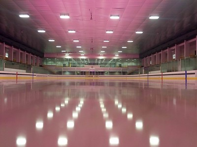 Wallace Civic Center Pink on the Rink transformation