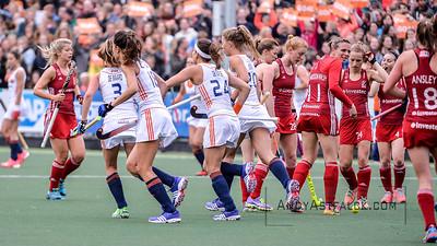 02-06-2016: Hockey: Nederland v Engeland: Amsterdam  Netherlands celebrates after scoring.   Copyright Orange Pictures / Andy Astfalck  Rabo Super Serie 2016