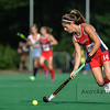 Katie Reiprecht from the US during a field hockey game between the US and the Netherlands national teams held on the 10th of June 2016 in Hilversum the Netherlands. The US won the game 3-2.