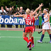 10-06-2016: Hockey: Nederland v USA: Hilversum<br /> <br /> Kathleen Sharkey and Michelle Vittese celebrate Unites States second goal.<br /> <br /> Copyright Orange Pictures / Andy Astfalck