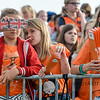 10-06-2016: Hockey: Nederland v USA: Hilversum<br /> <br /> Young Dutch Fans<br /> <br /> Copyright Orange Pictures / Andy Astfalck