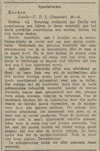19171021 Opmerking: wedstrijd op zondag 21 oktober 1917 Ook hier is de aanvoerder de beste van U.D.I. Competitiewedstrijd.    Provinciale Overijsselsche en Zwolsche Courant 22 oktober 1917