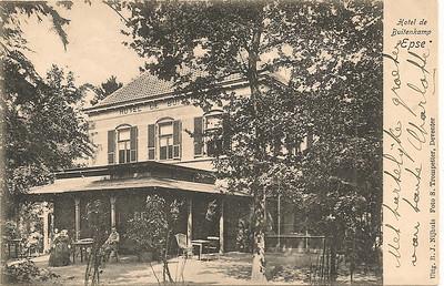Hotel De Buitenkamp  Geen poststempel.  Mogelijk ook omstreeks 1911. Zie andere foto.  Foto ontvangen De Elf Marken, Historische Vereniging Gorssel