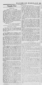 19160313  Verslag feestavond U.D.I. 11 maart 1916   Deventer Dagblad 13 maart 1916