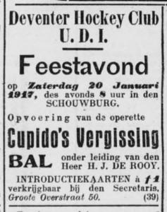 19170109  Advertentie Deventer Dagblad 9 januari 1917
