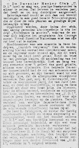 19170120 Verslag feestavond UDI 2o januari 1917  Deventer Dagblad 22 januari 1917