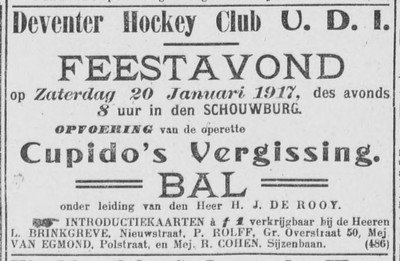 19170118 Advertentie In Deventer Dagblad 18 januari 1917