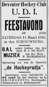 19160311 Advertentie Deventer Dagblad woensdag 1 maart 1916, p.4.