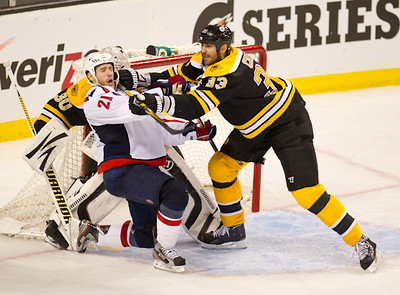 The Boston Bruins defeated the Washington Capitals 1-0 in overtime to win the the first game of the opening round in of the 2012 Stanley Cup Playoffs on April 24th, 2012, at TD Garden in Boston, Massachusetts.