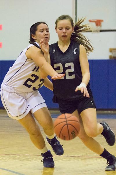 8th Grade Modified Girls basketball Homer vs Chittenango.