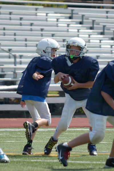Homer Youth Football Sr. Tackle vs Moravia league scrimmage at Ithaca 9/6/15