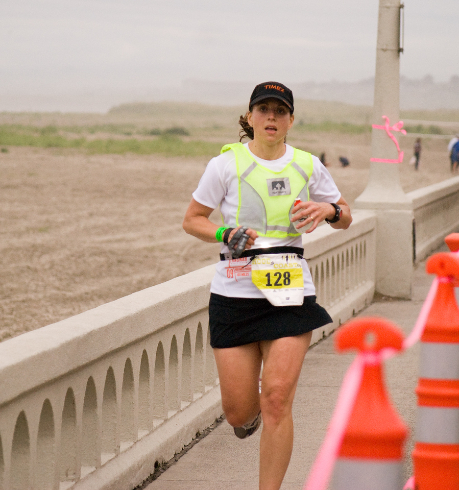 "Char cruising down the finishing chute to bring team ""Got Runs?"" in at 25:00:36 for a 7:37 min/mile average pace.  That time put the team 108th out of 1004 teams and 17th out of 314 in our division!"