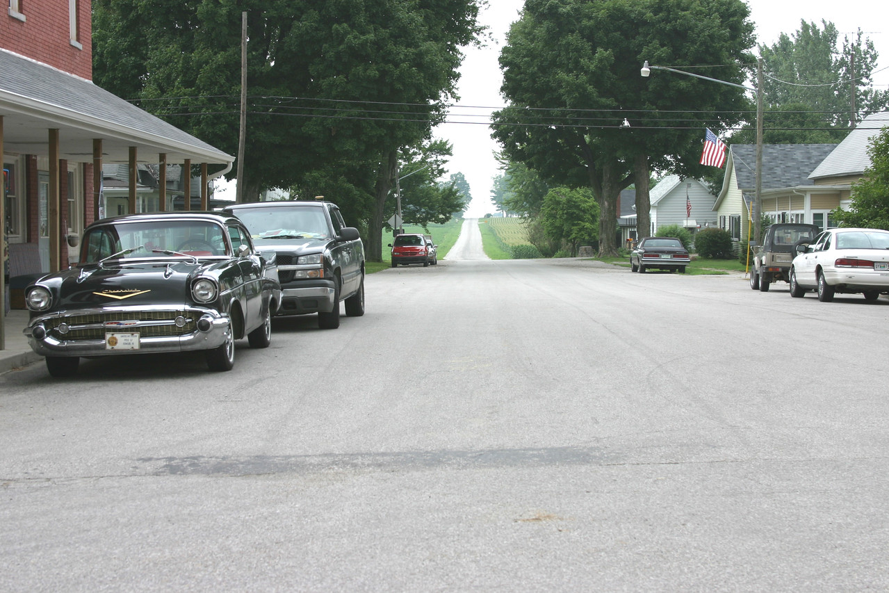 New Richmond, Indiana.  This is the road Coach Dale is seen driving into town at the beginning of the movie.