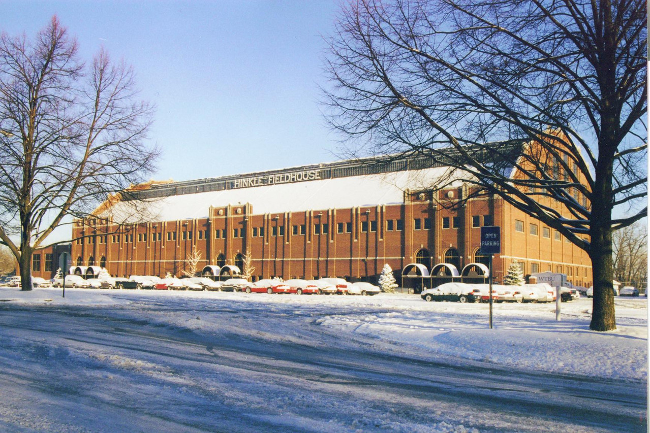 Hinkle Fieldhouse, Butler University, Indianapolis.  Photographed in February 2001.  Former home of all Indiana High School basketball Finals including the Milan Miracle Game in 1954.