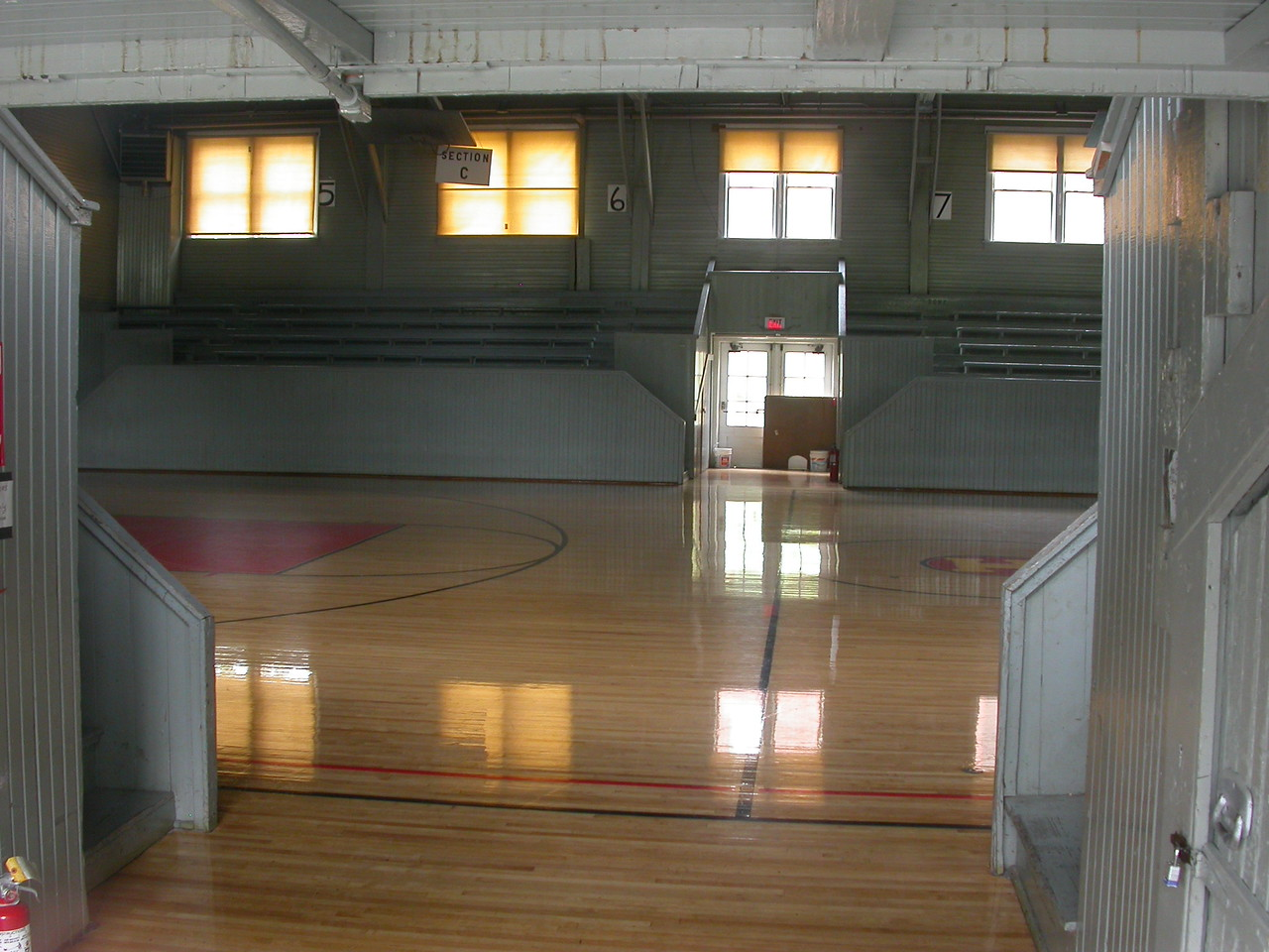 """This is the gym used as Home Court in the movie """"Hoosiers"""".  Located in Knightstown, Indiana.  Photographed May 5, 2004."""