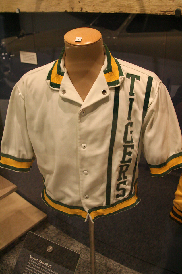 Crispus Attacks High School warmups from the 1950's.  Indiana State Museum.