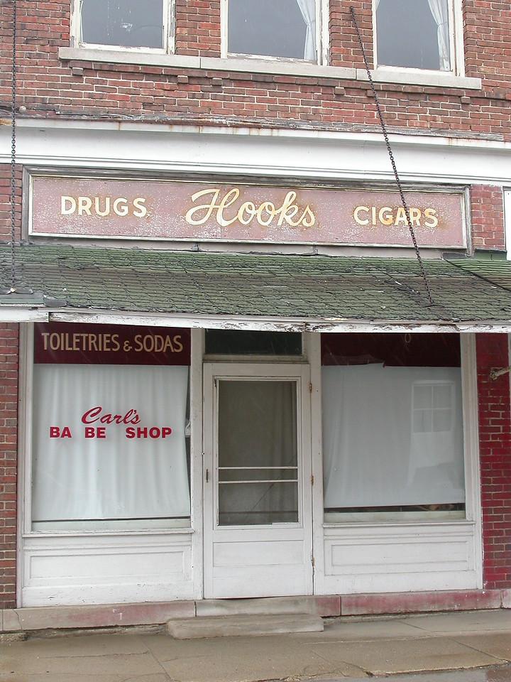 """""""Hoosiers"""" movie barbershop."""