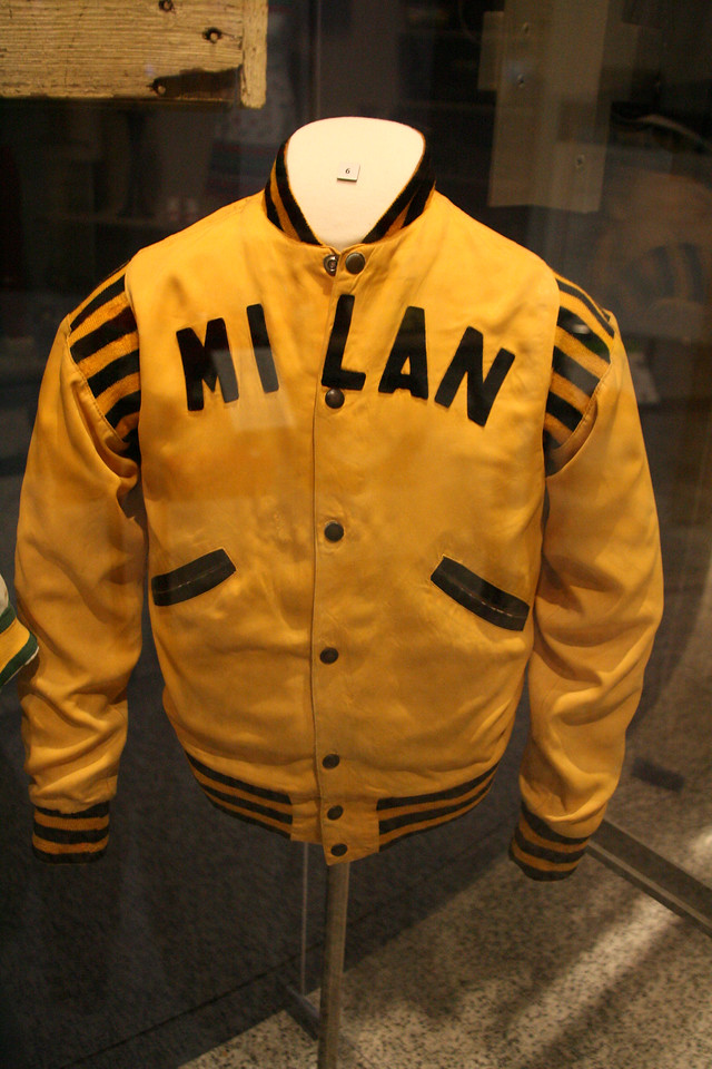 1950's Milan High School Letterjacket, Indiana State Museum.