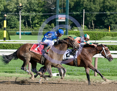 Proud Spell was resolute and would simply not let Music Note by in the Alabama Stakes at Saratoga Race Course.