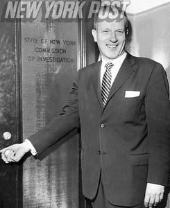 John J. Bennett, president of the horse track employees union. 1958