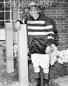 Paul Bailey At 42 Jockey Series Horse Racing Event. 1957.
