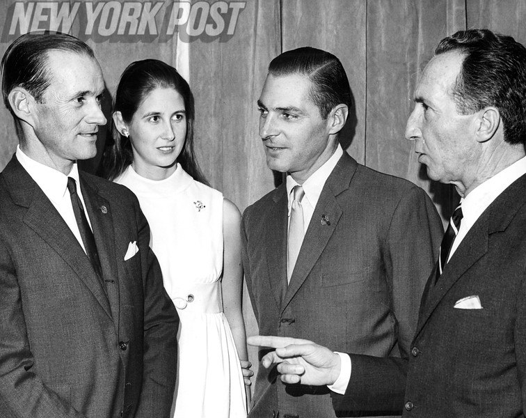 Bert Demethy With Company At Horse Race Event. 1969.