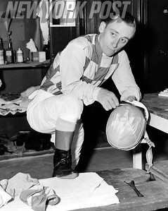 Pete Anderson Getting Ready For Horse Race. 1957.