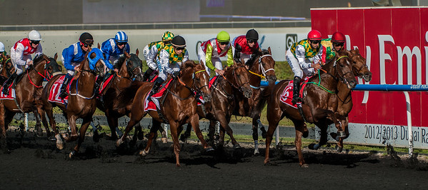 """The Al Maktoum Challenge of Purebred Arabians at The Tenth Carnival Race Meeting - """"Super Saturday"""" held at Meydan, Dubai on March 9th, 2012. Photo by: Stephen Hindley ©"""