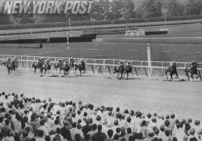 Egomaniac heads for victory on opening day at Belmont. 1969