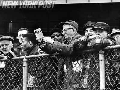 New York resident attend the opening races at the Aqueduct Racetrack. 1967