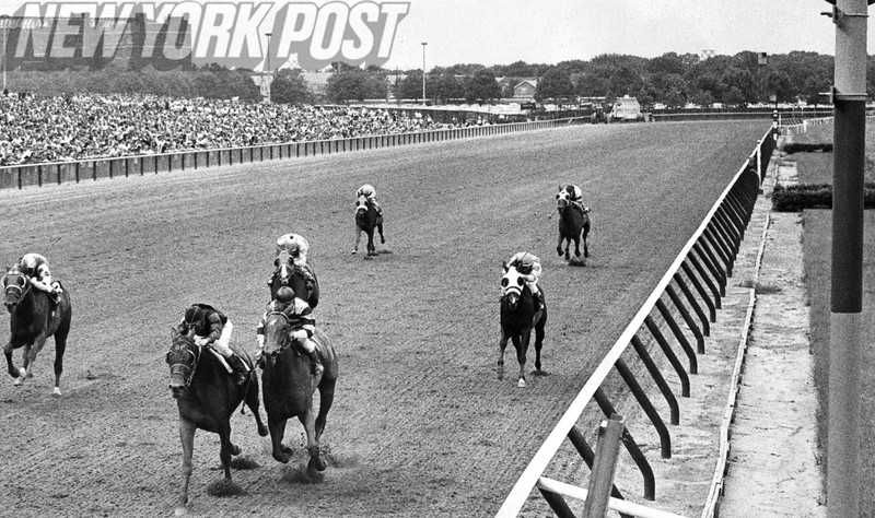 Buckpasser takes the win at the Aqueduct Racetrack. 1967
