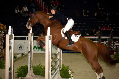 Katherine Strauss on Fardela took 2nd place in the Children's Jumper Championships