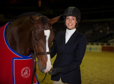 MEG O'MARA and WALK THE LINE, winners of $3,000 LARGE JUNIOR HTR 16-17 STAKE and $2,000 LARGE JUNIOR HTR 16-17