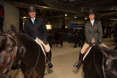 Glen Senk (New York, NY) on Declaration (former Grand Champion horse) Tina Allen (New Canaan, CT) on French Kiss