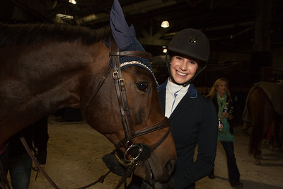 Bari Friedman with her horse  KEC Maximus