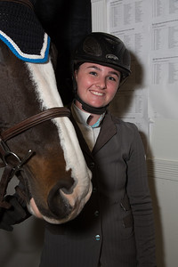 "Jessica Kinney with her horse ""World Power"""