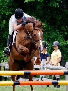 A duo competes in the Upperville International Horse Show.