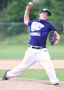 KRISTIN BAUER | CHRONICLE Keystone's pitcher Kyler Yusko pitches against Medina on Thursday evening, July 27 against Medina.