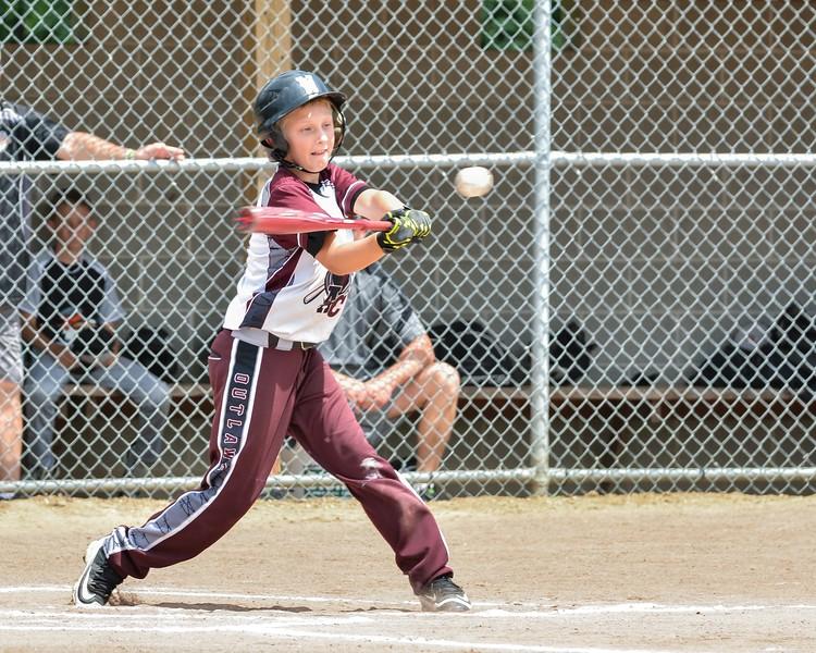 Wellington's Trenton Teague gets a base hit Sunday against Northe Ridgeville. JESSE GRABOWSKI / CHRONICLE