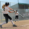 "Raianna Dobbs of the Arizona Hotshots makes contact with a pitch against the Illinois  Beverly Bandits on Saturday.<br /> For more photos of the game, go to  <a href=""http://www.dailycamera.com"">http://www.dailycamera.com</a>.<br /> Cliff Grassmick / June 30, 2012"