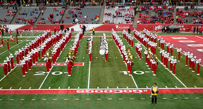 The Band in marching formation.
