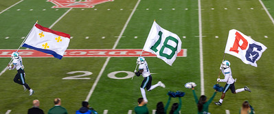 Here comes Tulane.   First the flags ...