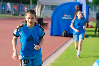 Houston Aces midfielder Tatiana Ariza (19) warm up at Houston Aces Vs Lonestar SC on Saturday, May 10th at Carl Lewis International Track & Field Complex in Houston TX