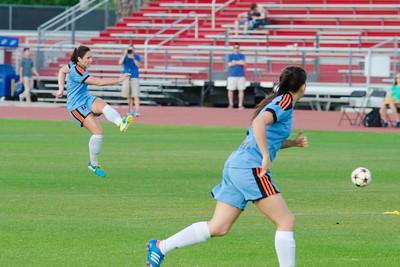 Houston Aces forward Ashley Correa (11) Houston Aces Vs Lonestar SC on Saturday, May 10th at Carl Lewis International Track & Field Complex in Houston TX