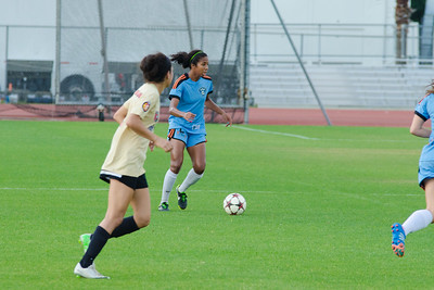 Houston Aces defender Yolanda McMillion (2) Houston Aces forward/midfielder Natalia Ariza (6) Houston Aces Vs Lonestar SC on Saturday, May 10th at Carl Lewis International Track & Field Complex in Houston TX