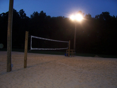 How to make a softball field into a volleyball court