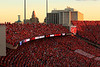 Sea of Red Capital, Lincoln NE<br /> <br /> The capital of Nebraska can be seen from our seats in Memorial Stadium.  It's a really nice view.