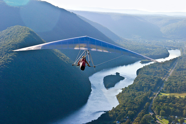 This image was published by the United States Hang Gliding Association as the full double page center spread, Volume 34, Issue 3, March 2004.This image was also the cover of the Pennsylvania State Travel Guide in 2005.