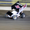 Jack Dover Lays the 24A LUS OIL ASCS Sprinter into turn 3 @ I-80 ASCS on his way to the WIN